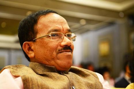 A file photo of Goa Chief Minister Laxmikant Parsekar who said recently that the government will declare monkey and few other animals as vermin as they pose a threat of loss to farmers. Photo: Mint