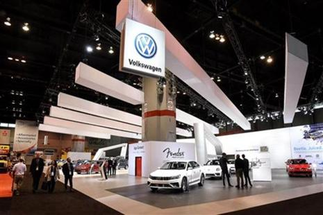Deliveries of VW-branded vehicles were up 2.8% at 521,400 around the world, driven by a 15.4% jump in China. Photo: AP