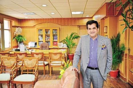 A file photo of Amitabh Kant, DIPP secretary, who addressed three state investment summits, Japan investment meet, and scores of government to business meetings apart from being present for other meetings on the first day of the Make in India week. Photo: Pradeep Gaur/Mint