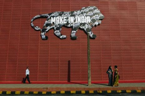 Make in India is the current government's flagship initiative, launched by the prime minister in September 2014, to encourage international companies to manufacture their goods in India. Photo: AFP
