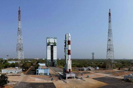 Isro launched the satellite on board the PSLV-C33 at 12.50pm on Thursday.  Photo: PTI