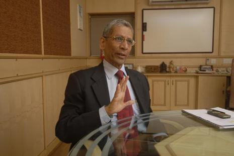 A file photo of Y.M. Deosthalee, chairman and managing director of L&T Finance Holdings. Photo: Abhijit Bhatlekar/Mint