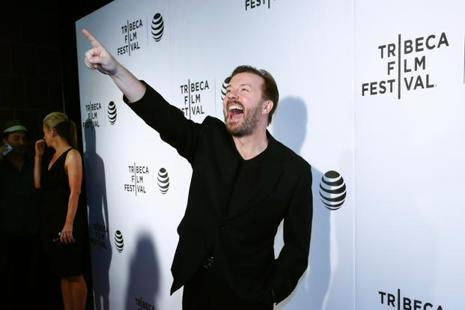 Ricky Gervais attends Tribeca Talks After the Movie: 'Special Correspondents' during the 2016 Tribeca Film Festival in New York on 22 April. Photo: AFP