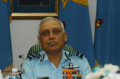 A file photo of former IAF chief S. P. Tyagi. Photo: HT