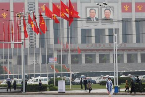 A file photo of the April 25 House Of Culture, venue of the Workers' Party of Korea congress in Pyongyang. Photo: Reuters