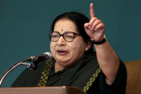 Chief minister J. Jayalalithaa said announced the manifesto late on Thursday evening during a rally at Perundurai in Erode district.  Photo: AP