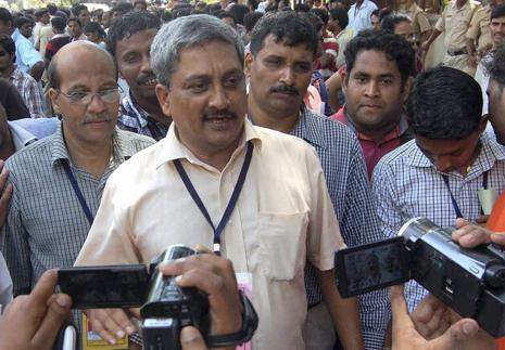 A file photo of defence minister Manohar Parrikar. Photo: PTI