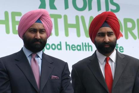 File photo of Malvinder Singh (left) and Shivender Singh. Photo: HT