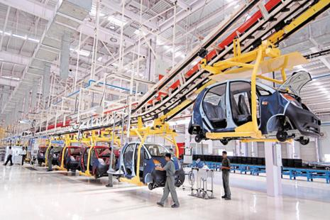 Tata Motors's Nano plant in Gujarat. Tata Motors has been steadily pushed to the margins of the Indian car market, recording a standalone loss of Rs4,739 crore in the year ended 31 March 2015. Photo: Abhijit Bhatlekar/Mint