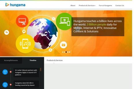 Hungama is among the leading companies that create Bollywood content and stream them on the Internet.