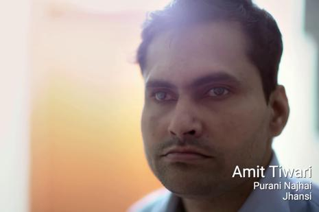 The film captures in many parts the aching loneliness of Amit Tiwari and his journey as he undergoes a life changing operation to restore his eyesight, with his family next to him.