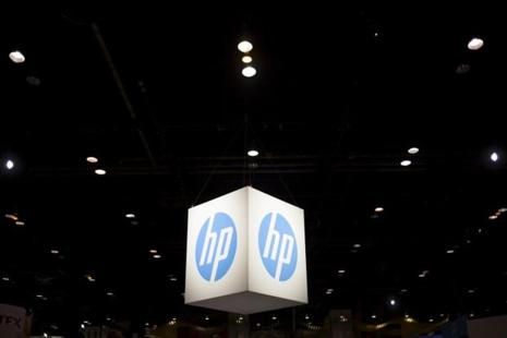 The Hewlett-Packard (HP) logo is seen as part of a display at the Microsoft Ignite technology conference in Chicago, Illinois. Photo: Jim Young/Reuters