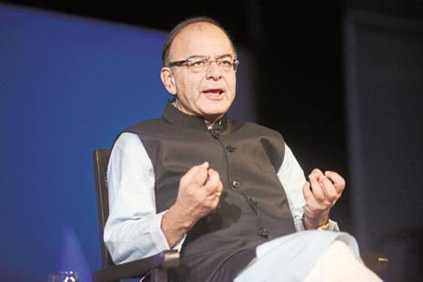 Arun Jaitley, finance minister of India, speaks at CNN Asia Business Forum. Photo: Abhijit Bhatlekar/Mint