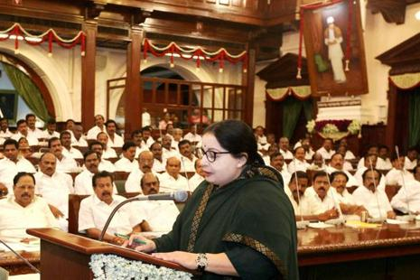 Tamil Nadu chief minister and AIADMK chief J. Jayalalithaa. Photo: PTI