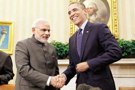 A file photo of Prime Minister Narendra Modi with US President Barack Obama. Photo: Reuters
