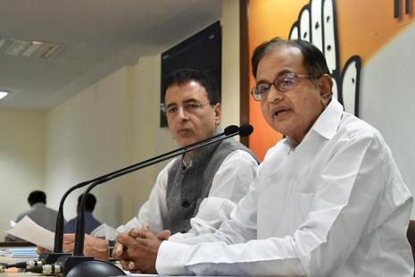 Former Union finance minister and senior Congress party leader P. Chidambaram. Photo: PTI