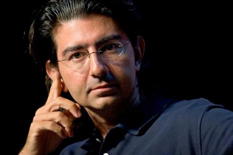 Pierre Omidyar, founder and chairman of the board of eBay, speaks at the eBay Developer's Conference in Boston. Photo: JB Reed/Bloomberg