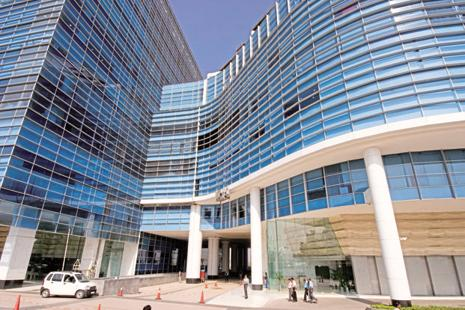 A file photo of DLF Infinity in DLF Cybercity, Gurgaon. The stake sale in DLF's commercial property arm, DLF CyberCity Developers Ltd, is expected to raise about Rs12,000 crore. Photo: Mint