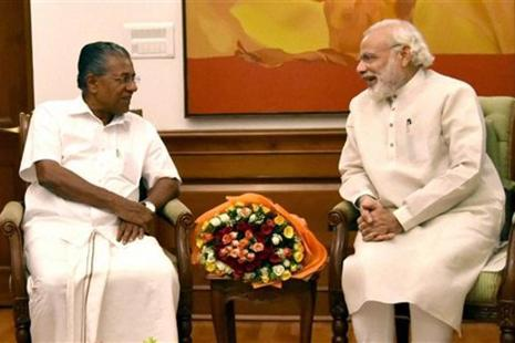 Kerala chief minister Pinarayi Vijayan with Prime Minister Narendra Modi in New Delhi. Photo: PTI