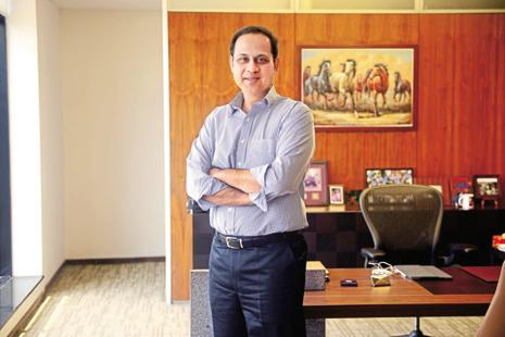Sanjiv Bajaj, managing director of Bajaj Finserv that owns Bajaj Allianz insurance companies. Photo: Abhijit Bhatlekar/Mint