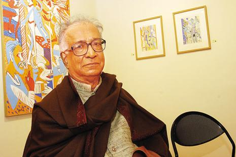 K.G. Subramanyan, one of the pioneers of Indian modern art. Photo: Hindustan Times