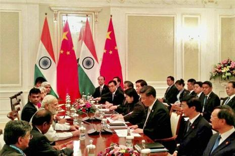 Prime Minister Narendra Modi met Chinese President Xi Jinping in Tashkent on the sidelines of SCO Summit. Photo: PTI