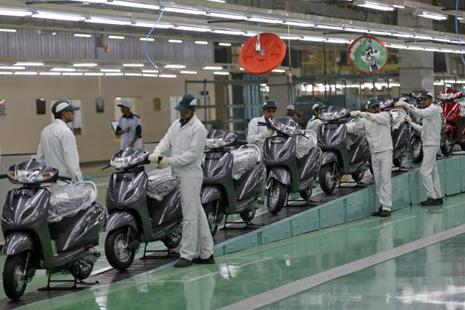 A file photo of Honda's Vithalapur plant. Photo: Reuters