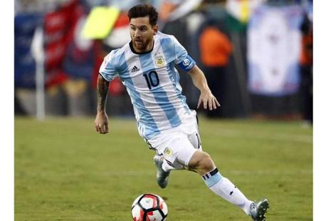 Lionel Messi announced an emotional, teary retirement from Argentina's national team. Photo: Winslow Townson/USA Today Sports