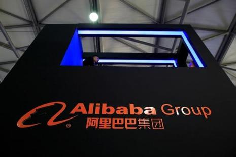 A sign of Alibaba Group is seen at CES (Consumer Electronics Show) Asia 2016 in Shanghai, China. Photo: Reuters