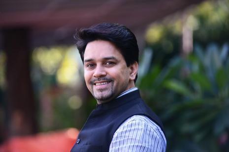 A file photo of BCCI president Anurag Thakur. Photo: Ramesh Pathania/Mint