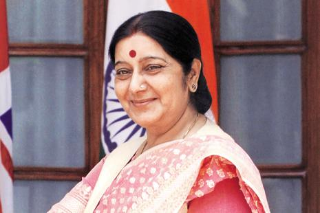 Foreign minister Sushma Swaraj on Saturday slammed Pakistan for its recent attempts to bring international focus on what Islamabad has termed as human rights violations in Indian-administered Kashmir. Photo: Hindustan Times