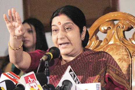 A file photo of foreign minister Sushma Swaraj. Photo: Hindustan Times