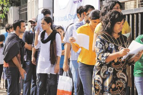 File photo. In a statement, CBSE said the test was conducted at 739 centres in 56 cities. Photo: Hindustan Times