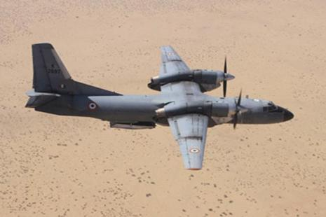 A file photo of an AN-32 aircraft. The AN-32 plane went missing about 300 km east of Chennai, the ministry said in a statement. Photo: Courtesy IAF website.