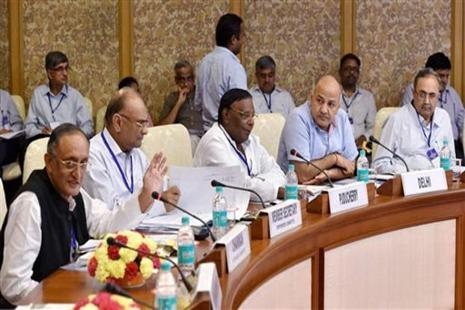 A meeting of the empowered committee of state finance ministers was held in New Delhi on Tuesday. Photo: PTI