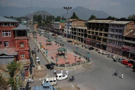 A file photo of Srinagar. 47 people have been killed in violence in Kashmir since the killing of Hizbul Mujahideen commander Burhan Wani on 8 July. Photo: AFP