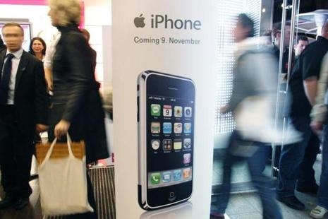 A display advertising the first iPhone in 2007. Photo: Reuters