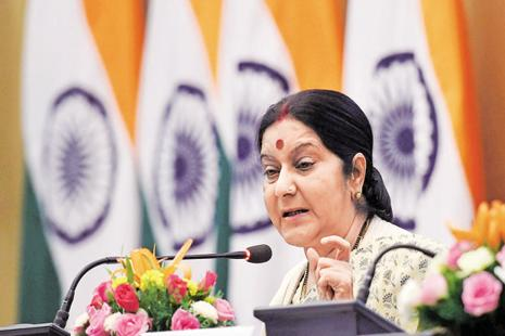 A file photo of external affairs minister Sushma Swaraj. Photo: PTI