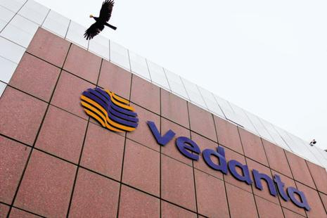 Vedanta's shares closed at Rs164.60, down 2.69%, while the benchmark index was down 0.56% at 28051.86. Photo: Reuters
