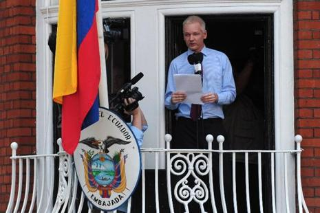 A file photo of Wikileaks founder Julian Assange. Photo: AFP