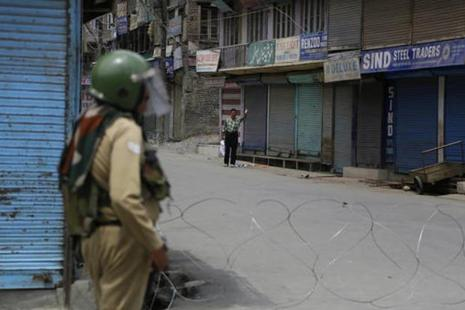 Protests broke out across Kashmir valley on 9 July, a day after Burhan Wani was killed in the encounter. Photo: AP