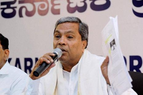 A file photo of Karnataka chief minister Siddaramaiah.  The entire family and close associates of the chief minister have been in Belgium for the last three days, according to the CMO.  Photo: PTI