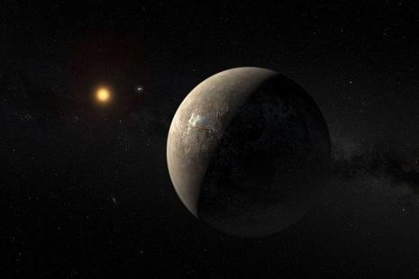 The planet Proxima b orbiting the red dwarf star Proxima Centauri, the closest star to our solar system, in an undated artist's impression. Photo: Reuters