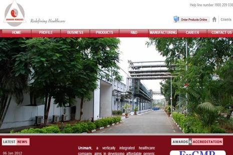Unimark Remedies' plants in Ahmedabad make active pharmaceutical ingredients.