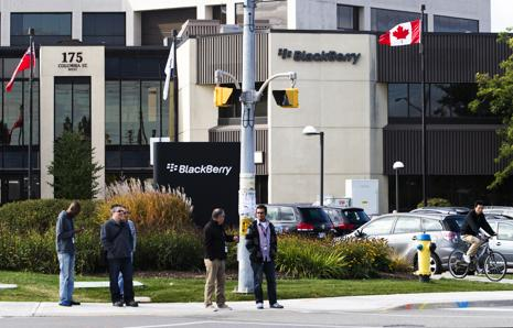 The new debt that BlackBerry plans to issue will have a coupon of 3.75% and will be due in November 2020. Photo: Reuters