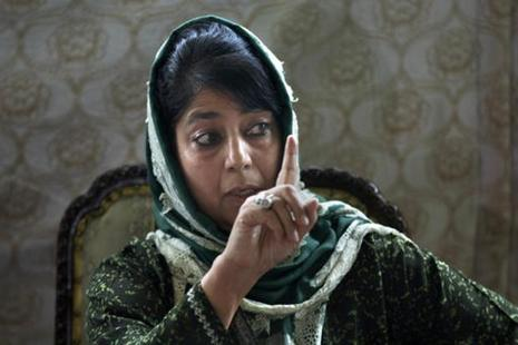 Jammu and Kashmir CM Mehbooba Mufti says separatists should come forward and help the J&K govt in saving innocent lives. Photo: AP