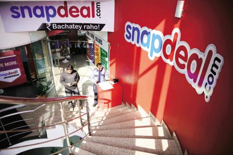 Snapdeal's new logo is expected to have one colour in the name, instead of the present blue and red. Photo: Pradeep Gaur/Mint