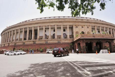 A file photo of the Parliament.  The Maharashtra legislative assembly will have a special sitting on Monday to consider ratification of the GST constitutional amendment bill passed by the Parliament.  Photo: Vipin Kumar/HT