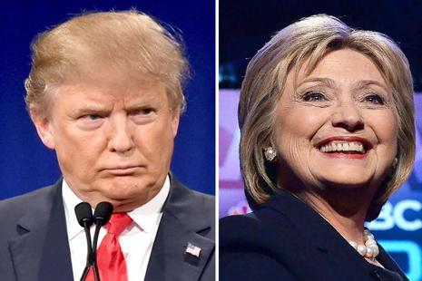 Republican Donald Trump and his Democratic rival Hillary Clinton. Photo: AFP