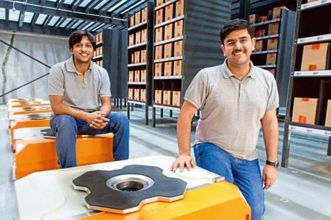 GreyOrange's chief executive Samay Kohli and chief technology officer Akash Gupta.